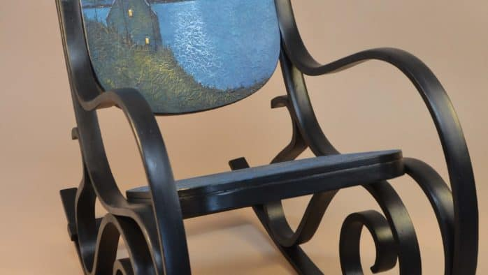 Vintage, hand painted rockers offered in Art Rocks Brandon auction