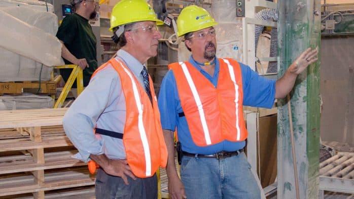 Lieut. Governor Scott visits local talc mine