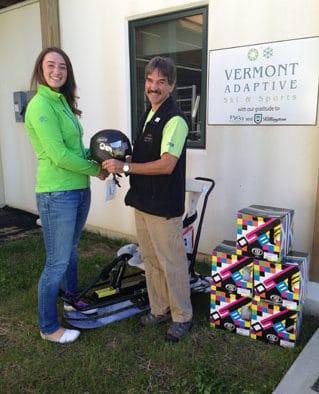 Forerunner Ski Shop donates helmets to Vermont Adaptive