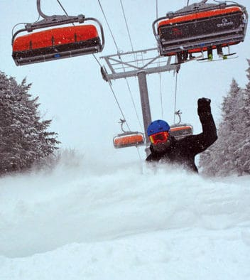 Skiers and riders enjoy powder conditions