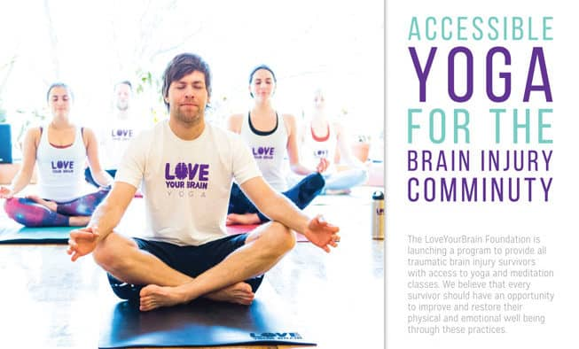 Happy Hour Yoga supports LoveYourBrain Foundation