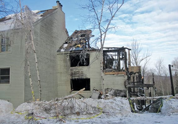 All but one wing of the Killington Townhouses perished