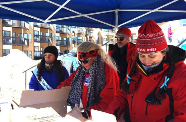 Over 60 boxes of food collected at Okemo for local food shelf