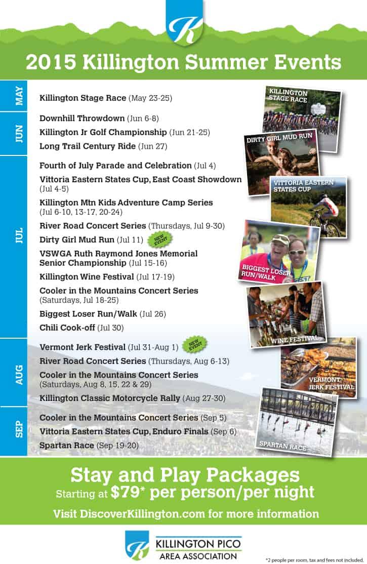 Killington Summer Events Calendar