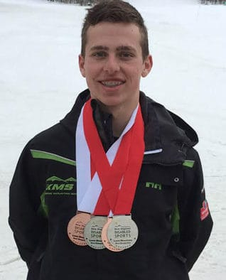 Spencer Wood earns four medals in four races