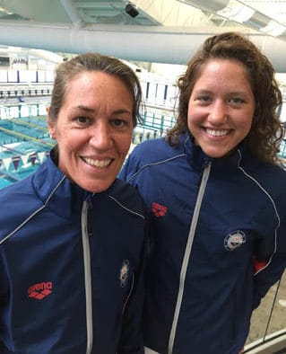 Upper Valley Aquatic Club swimmer Hannah Cox and Head Coach Dorsi Raynolds headed to World Junior Championships in Singapore