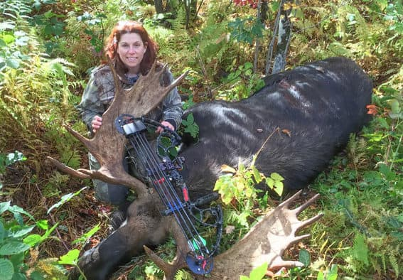 Record moose taken by Fairfax woman bowhunter