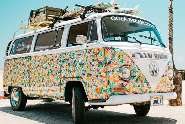 """The """"Oola Dream Tour"""" rolls into your town in a VW bus"""