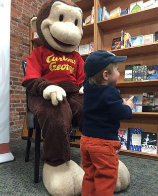 Curious George delights children in Rutland