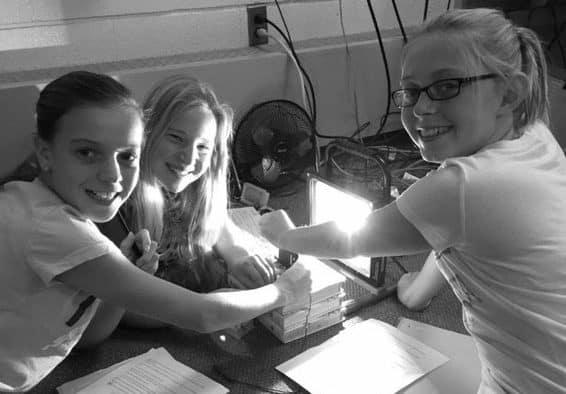 Sixth graders study solar