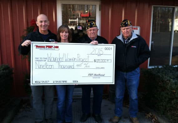 Brown's Auto Salvage and partners give $19,000 to Wounded Warrior Project