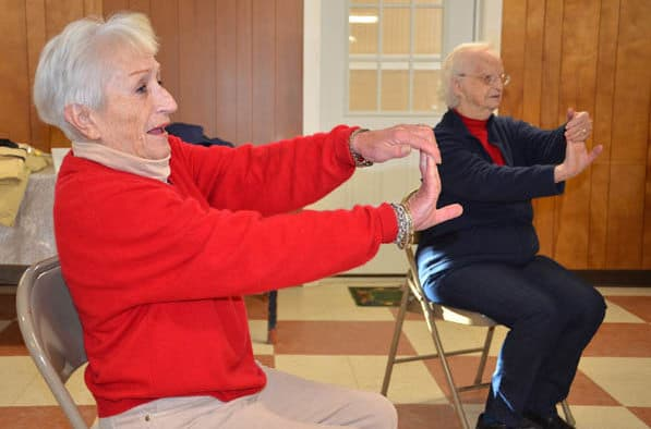 Mendon seniors build friendships and bone density with Bone Builders