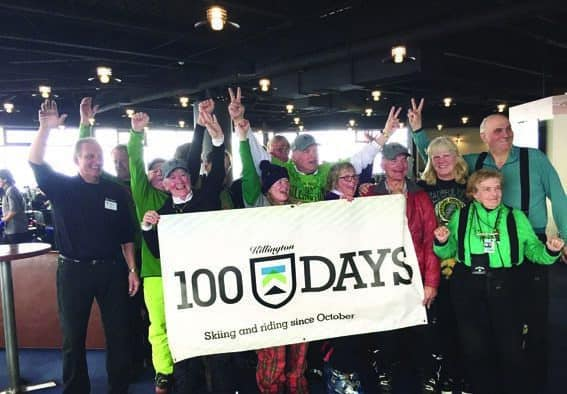 Killington's 100 Days Club members celebrate
