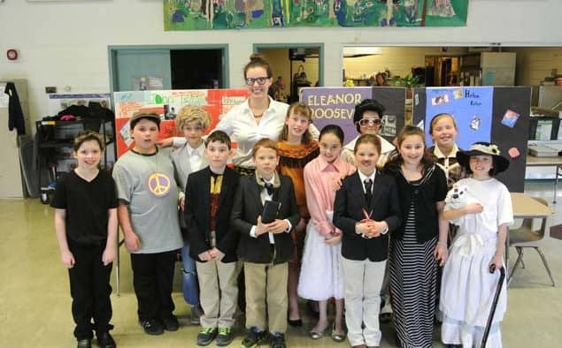 """KES 4th grade presented """"wax museum"""" of historical figures"""