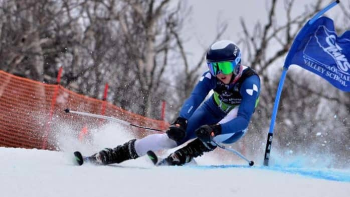 KMS alpine athletes finish well in height of season