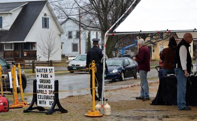 Baxter Street park officially breaks ground