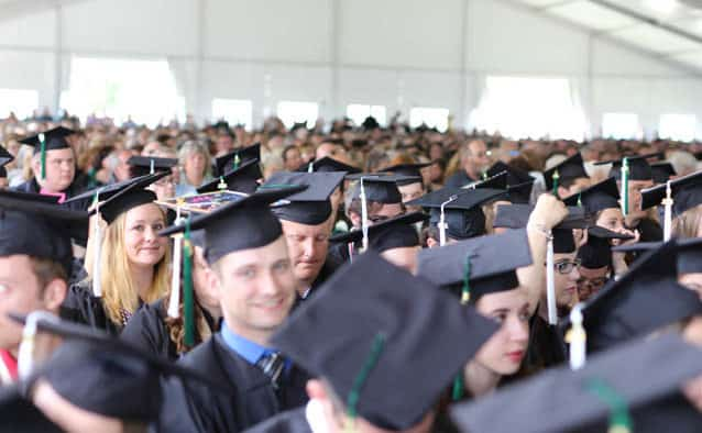 "Castleton celebrates first Commencement as ""Uni,"" Capt. Phillips addresses grads"