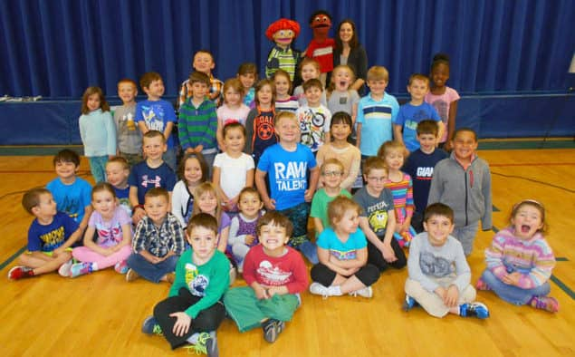 Young students part-take in bully prevention and healthy bodies programs