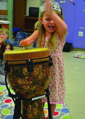 "Killington pre-k students ""Bang on a drum"""