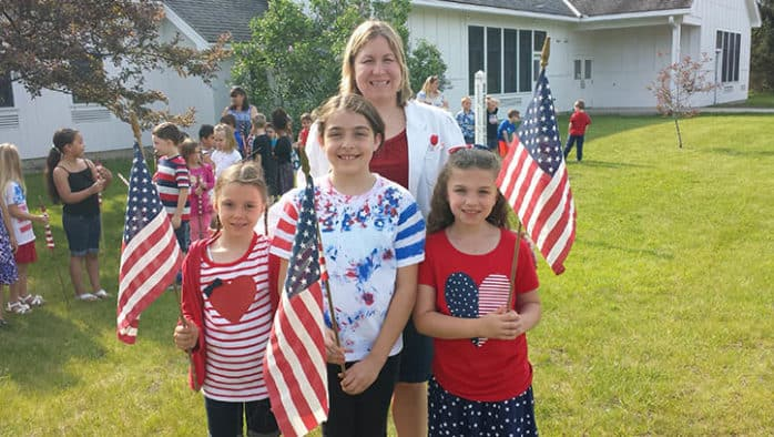 Memorial Day was celebrated at the Mettawee Community School