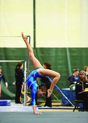 Young local gymnasts compete regionally