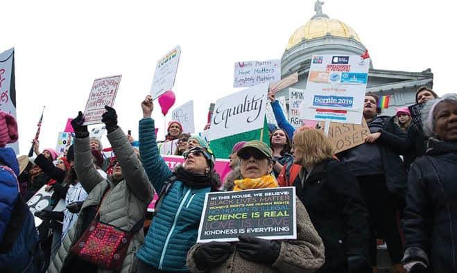 Women's March overwhelms Montpelier