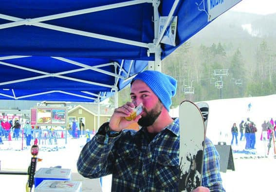 Beer and snow makes for a great day at Okemo