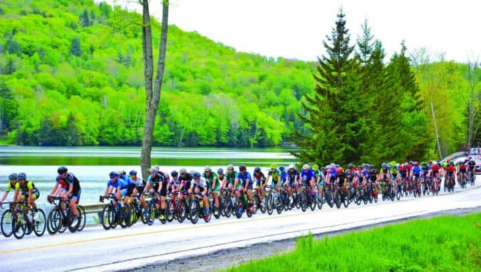 Mountainous courses challenge cyclists
