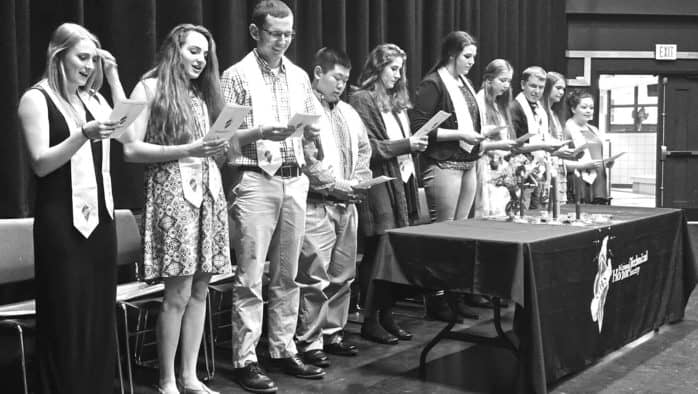 Honor society welcomes new members