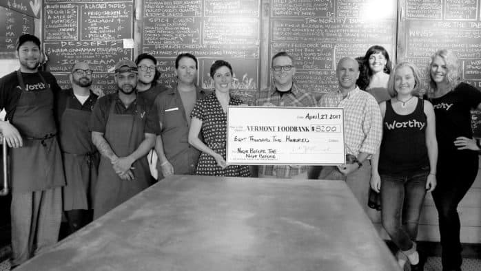Worthy Kitchen raises funds for Vermont Food Bank