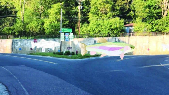 Bethel bringing 200-foot trout mural to life