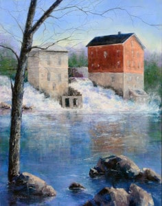 Norma Jean Rollett captured in art an iconic Brandon scene of buildings on the river