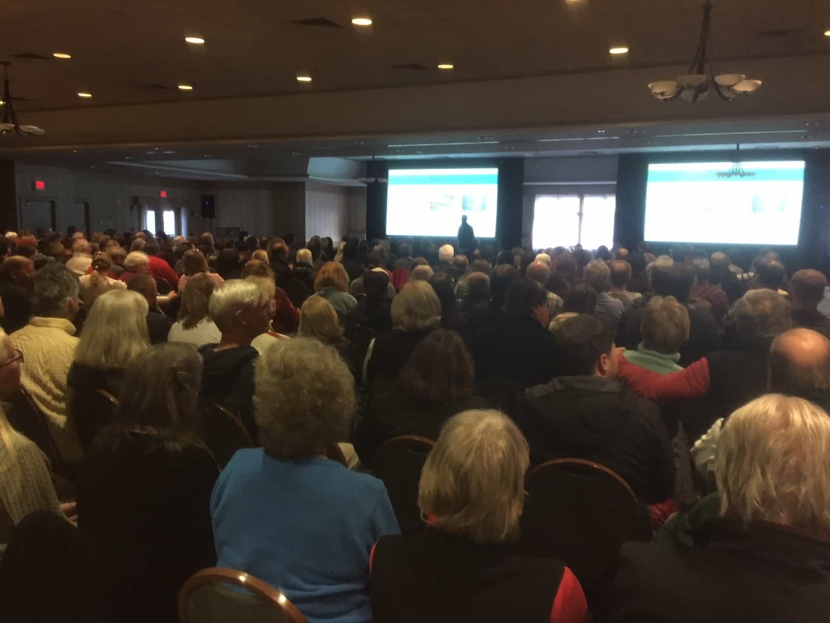 Crowd of approximately 400 gather to hear Killington Resort Update.