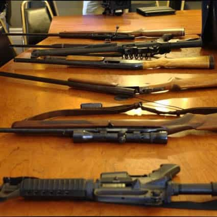Courtesy of VTDigger The state has hundreds of abandoned or seized guns in storage.