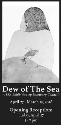 Courtesy GMC Rosemary Connelli uses women's bodies and whales in her drawings, exploring self-love and appreciation for the large mammals of the Atlantic.