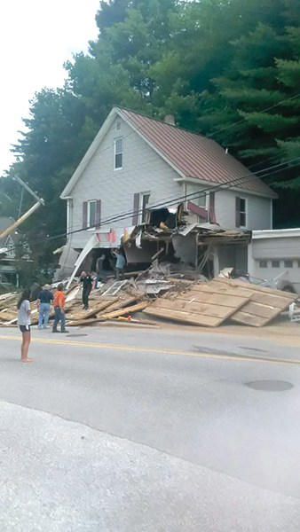A home on Andover Street in Ludlow was demolished by a tractor trailer July 31.