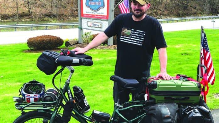 Veteran raises awareness for PTSD with cross-country trek