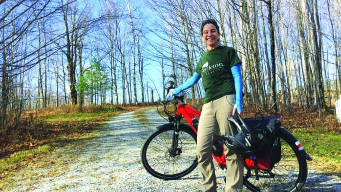 CU professor bikes 56 miles to work every day