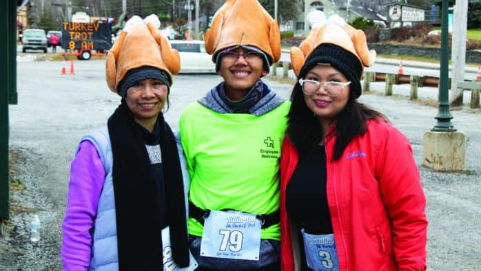 Runners and their canine companions turned out for the Killington Turkey Trot
