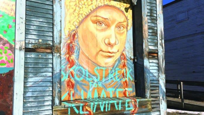 Defaced Greta Thunberg mural repainted
