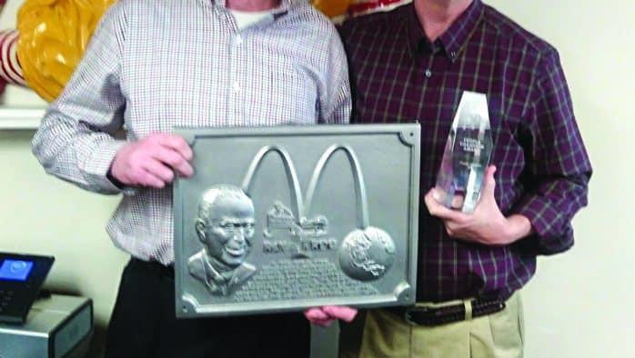 Local McDonald's manager receives national award