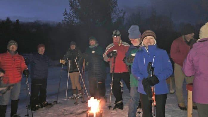 Nordic Harmoni hosts twilight snowshoe