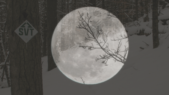 Slate Valley Trails guides a full moon hike