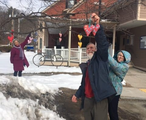 Ludlow residents spread kindness with hearts