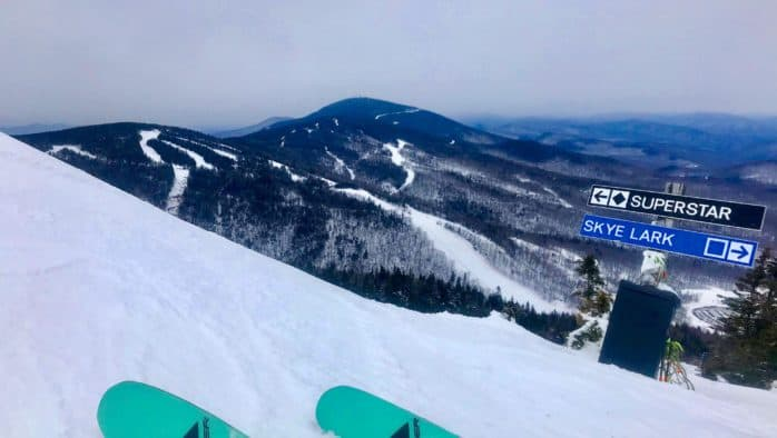 Skiing hero snow on Superstar
