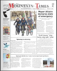 Mountain Times Volume 49, Number 13: March 25-31, 2020