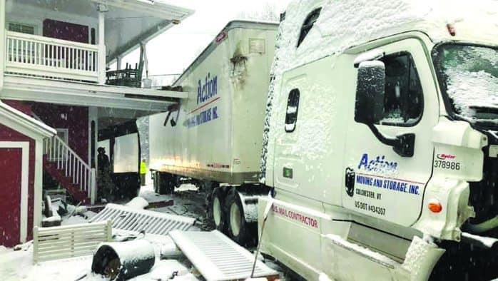 Tractor trailer slams Bridgewater store