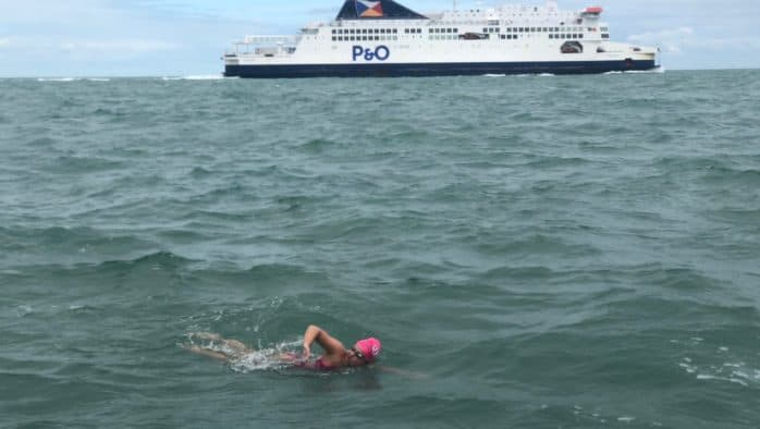 Rivard successfully swims the English Channel