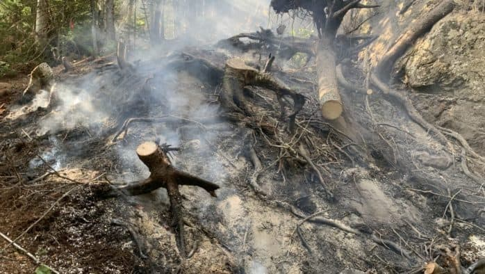 Increased awareness is needed when open burning during current dry weather